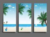 Sommaren beach bakgrund — Stockvektor