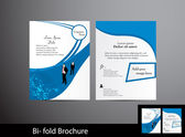 Bi-fold business brochure — Stock Vector