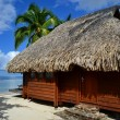 Overwater bungalow - Stock Photo
