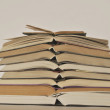 Pile of the different books. — Stock Photo