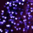 St. Valentine's Day blue heart bokeh background - Lizenzfreies Foto