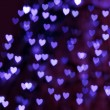 St. Valentine's Day blue heart bokeh background - Foto Stock