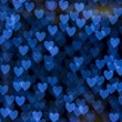 St. Valentine's Day blue heart bokeh background — Stock Photo #19768321