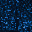 St. Valentine's Day blue heart bokeh background — Lizenzfreies Foto