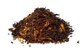 Pile of pipe tobacco isolated on white — Stock Photo