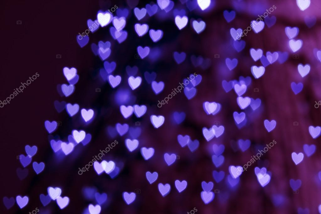St. Valentine's Day blue heart bokeh background, place for text — Stock Photo #19768269
