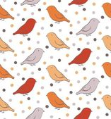 Bright seamless pattern with birds — Stock Vector