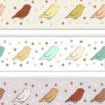 fronteira com pássaros — Vetor de Stock  #23284632