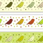 fronteira com pássaros — Vetorial Stock