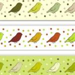 fronteira com pássaros — Vetor de Stock  #23284638