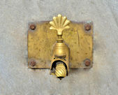 Antique Brass Dripping Tap — Stock Photo