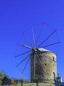 Tradiční starý větrný mlýn v datca mugla — Stock fotografie