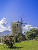 Traditionele oude windmolen in datca, mugla — Stockfoto