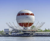 Panoramic view Baloon at Kadikoy District in Istanbul. Istanbul — Stock Photo