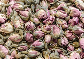 Dried pink roses tea — Stock Photo
