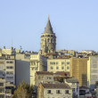 Galata Tower and Istanbul view — Stock Photo
