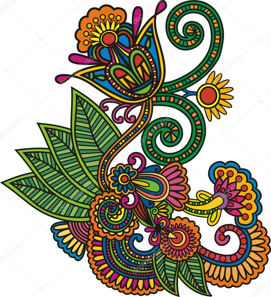 Art Design : Flower art vector design — stock view adv