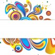 Stock Vector: Round Swirls Banner