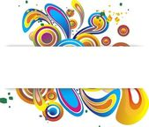 Round Swirls Banner — Stock Vector