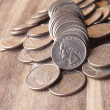 Quarters Coins — Stock Photo