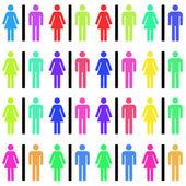 Hommes et femmes — Photo