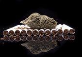 Smoking Marijuana and Tobacco — Stock Photo