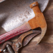 Hammer and Tools - Foto Stock