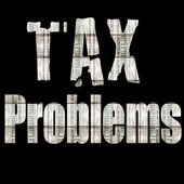 TAX PROBLEMS — Stock Photo