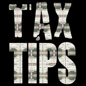 TAX TIPS — Stock Photo