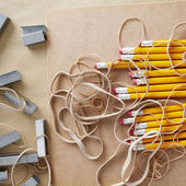 Pencils, School and Office Supplies — Stok fotoğraf