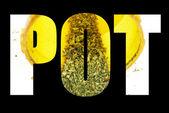 Marijuana Headline, Text and Image, Pot — Stock Photo