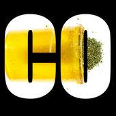 Marijuana Colorado Icon, Text and Image, CO — Stock Photo