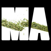 Massachusetts Marijuana and Cannabis Legalization, MA — Stock Photo