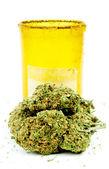 Marijuana Cannabis, White Background — Stock Photo