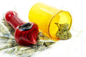Medical Marijuana, Rx Prescription Pharmacy Drug Bottle from Dispensary — Stock Photo