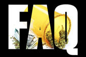 Marijuana , FAQ, Frequently Asked Questions  — Stock Photo