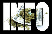 Marijuana Information — Foto Stock