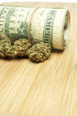 Marijuana and Money — Stock Photo