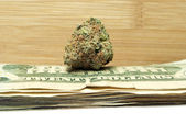 Marijuana and Money — Stockfoto