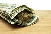 Marijuana and Money — Fotografia Stock
