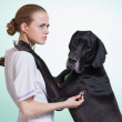 German dog in clinic — Stock Photo #27350069