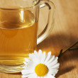 Green tea with chamomile — Stock Photo