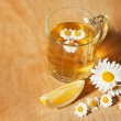 Herbal tea with lemon — Stock Photo