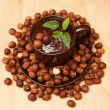 Milk chocolate with nuts — ストック写真