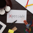 "Inscription on a sheet ""possible"" — Stock Photo"