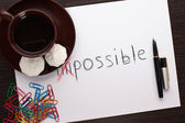 "Slogan ""possible"" — Stock Photo"