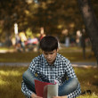 Student preparing for the exam — Stock Photo #28071377