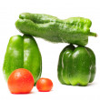 Peppers and tomatoes — Stockfoto