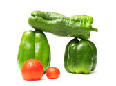 Peppers and tomatoes — Stock Photo