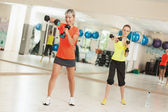 Exercise the triceps — Stock Photo